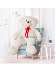 White Giant Teddy Bear 200 CM – 78 Inch – NoMo Giant Teddy Bears - Big Teddy Bears - Huge Stuffed Bears
