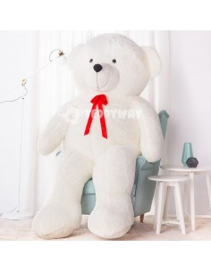 White Giant Teddy Bear 220 CM – 86 Inch – NoMo Giant Teddy Bears - Big Teddy Bears - Huge Stuffed Bears
