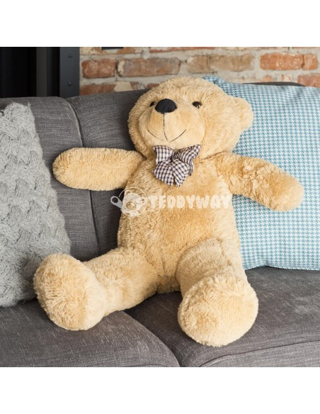 Light Beige Giant Teddy Bear 100 CM – 39 Inch – PoPo Giant Teddy Bears - Big Teddy Bears - Huge Stuffed Bears