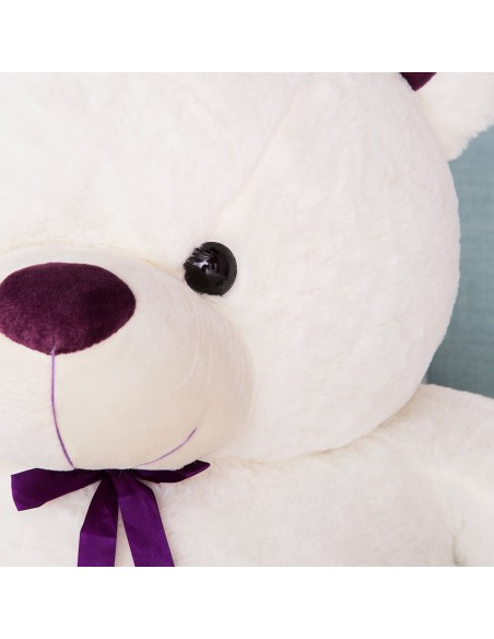 White Giant Teddy Bear 100 CM – 39 Inch – ToTo Giant Teddy Bears - Big Teddy Bears - Huge Stuffed Bears