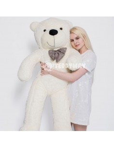 White Giant Teddy Bear 160 CM – 63 Inch – PoPo Giant Teddy Bears - Big Teddy Bears - Huge Stuffed Bears