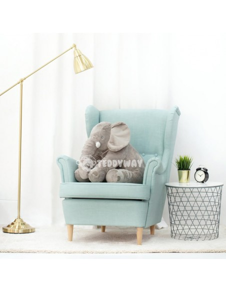 Grey Giant Plush Elephant – 70 Cm – 27 Inch – HoGo Giant Stuffed Elephants