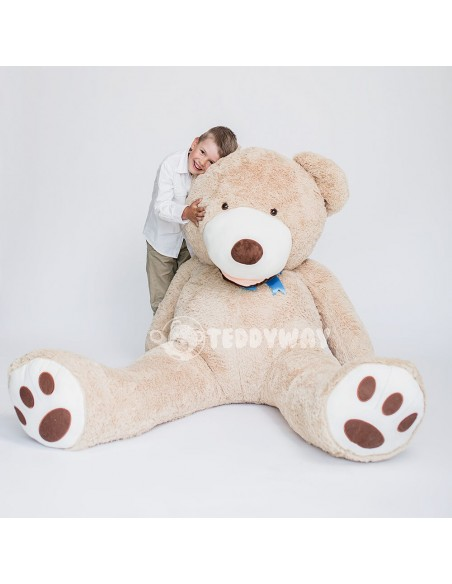 Light Beige Giant Teddy Bear 200 CM – 78 Inch – BoBo Giant Teddy Bears - Big Teddy Bears - Huge Stuffed Bears